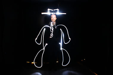animation light painting Perpignan