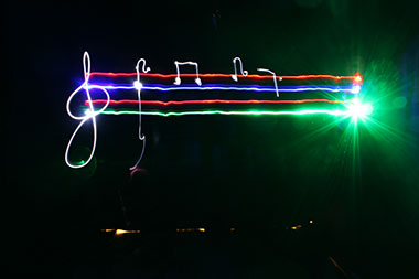teambuilding light painting Avignon