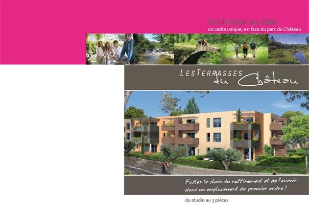 Dépliant promotion immobilière Habitec - couverture du depliant