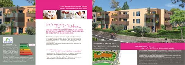 Dépliant promotion immobilière Habitec -