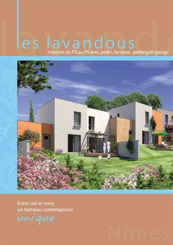 Depliant 2 volets Les Lavandous -