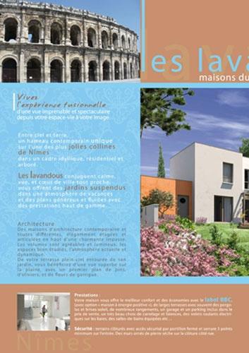 Depliant 2 volets Les Lavandous - interieur