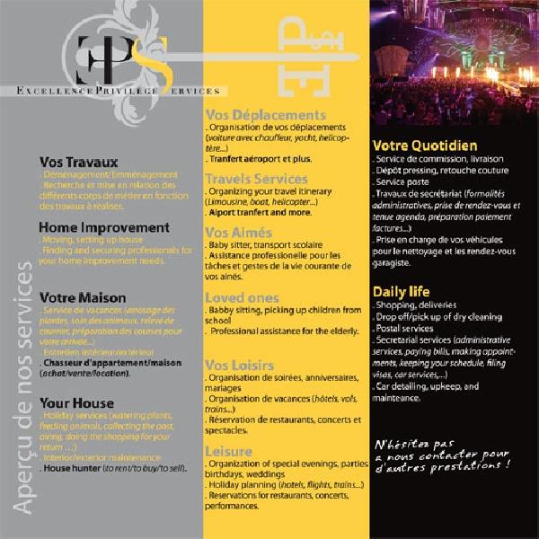 Création du flyer EPS Conciergerie -