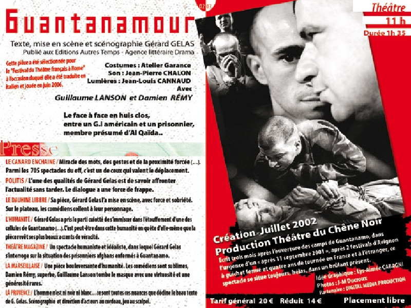 Création de programmes pour le Theatre du Chene Noir -