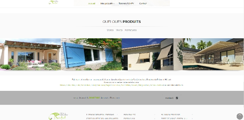 site vitrine catalogue Stores Michel -