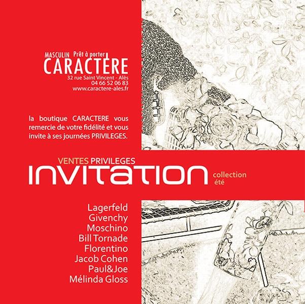 Création du flyer CARACTERE 2013 -