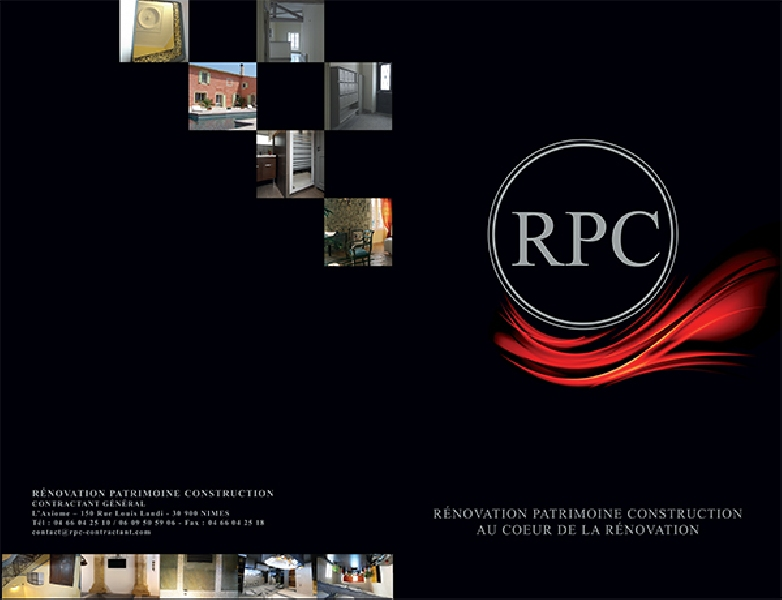 Création de la plaquette de la société RPC -