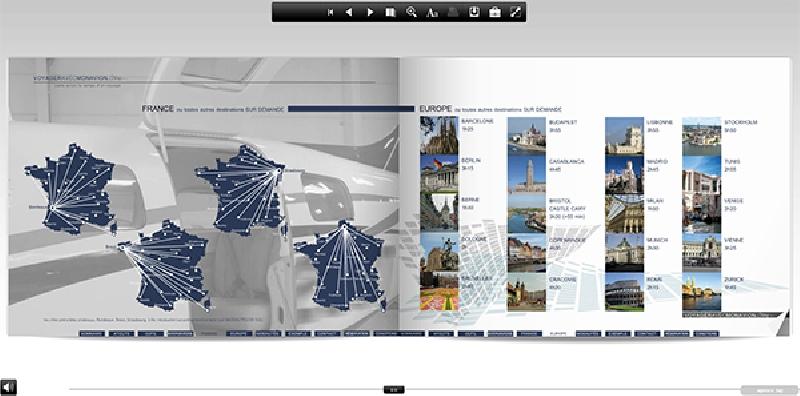 Création du e-book VOYAGER AVEC MON AVION - e-catalogue en ligne