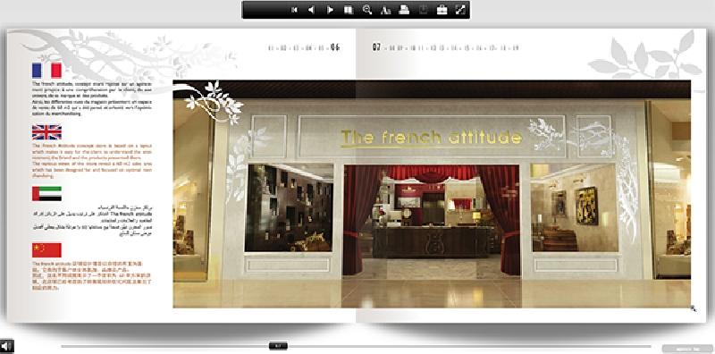 Création du e-catalogue French Attitude - e-book en ligne