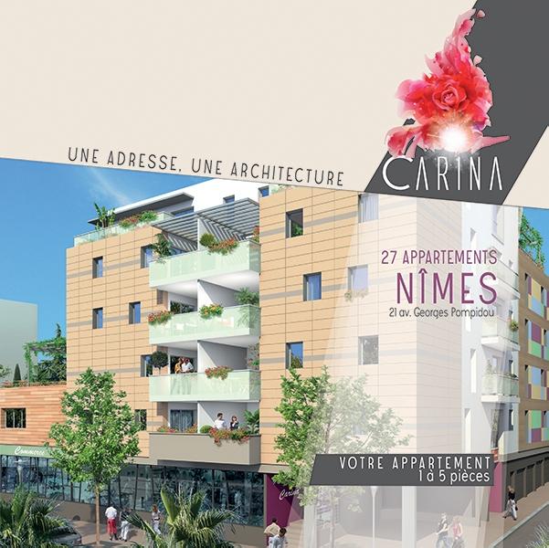 Création du dépliant immobilier Carina -