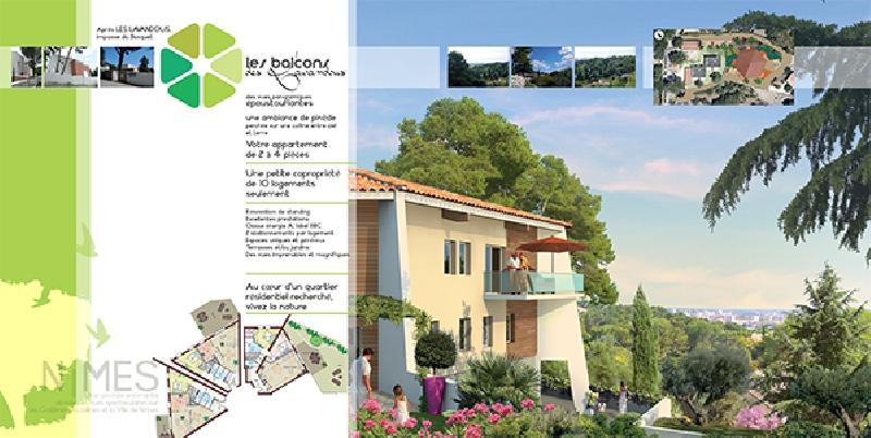 Création du dépliant immobilier Les Balcons du Lavandous -