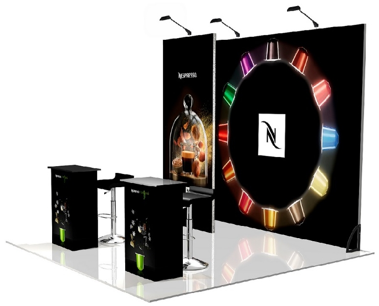 Conception et réalisation projet stand Nespresso -