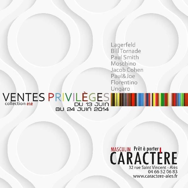 Flyer Ventes Privilèges Ete 2014 Caractère -