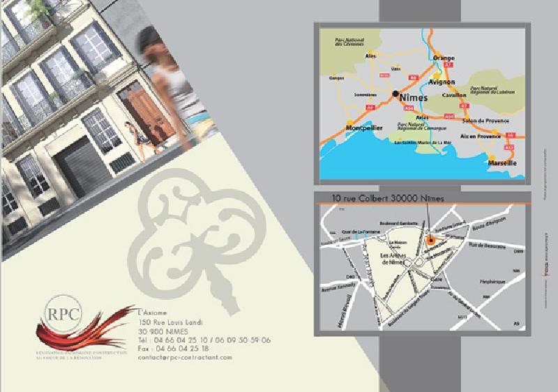 Création du dépliant immobilier pour RPC -