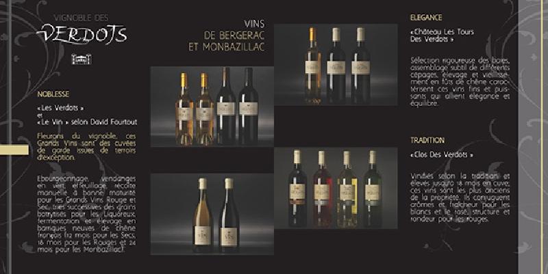 Création de la brochure pour Le Vignoble du Verdots -