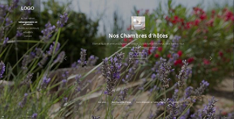 site vitrine et responsive du Mas Lou Caloun -