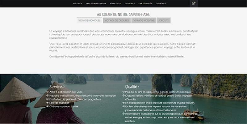 site vitrine responsive Eden Evasion -