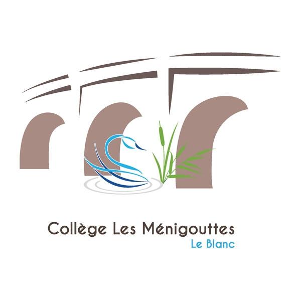 Création du logo du Collège Les Ménigouttes Le Blanc -