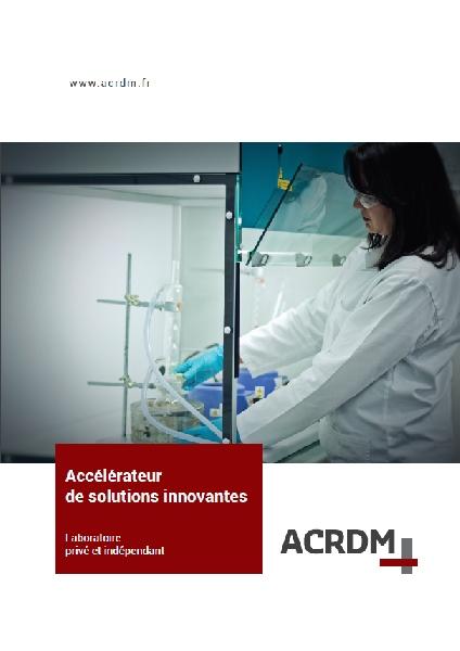 Création de la plaquette commerciale ACRDM -