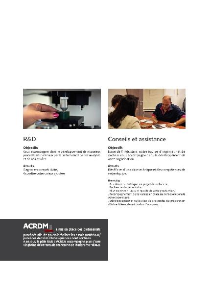 Création de la plaquette ACRDM -