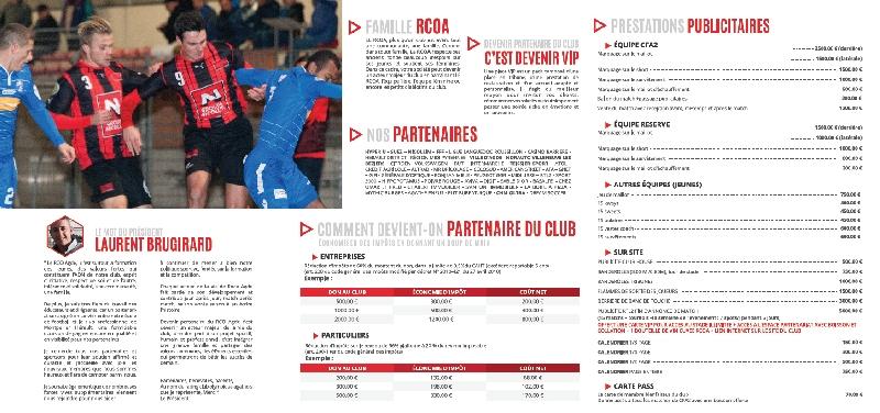 Création de la plaquette pour le club RCOA -