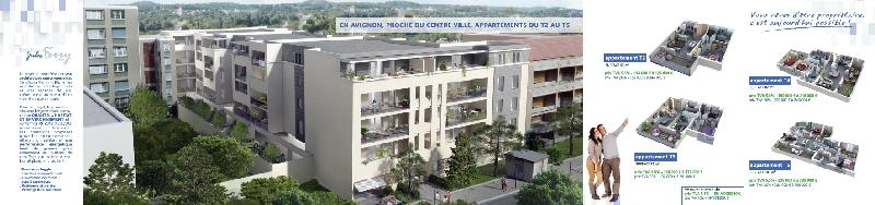 Création de la plaquette immobilière à Avignon - réalisation vues et plans 3D