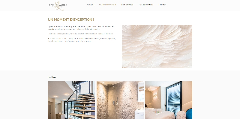 site vitrine Le Spa de Jastres -
