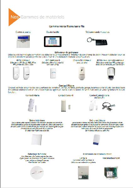 Création de la plaquette commerciale de Connect sécurity -