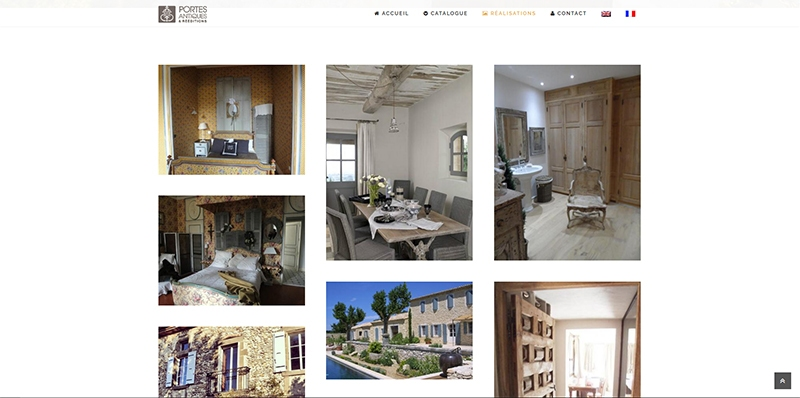Site vitrine catalogue Portes Antiques -