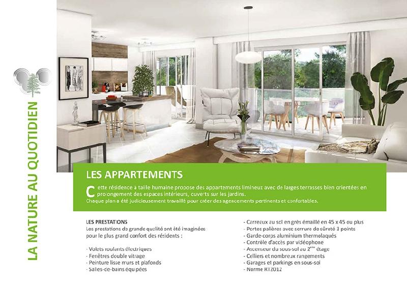 Création du dépliant immobilier Habitec -