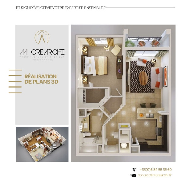 Création flyer services MCréarchi -