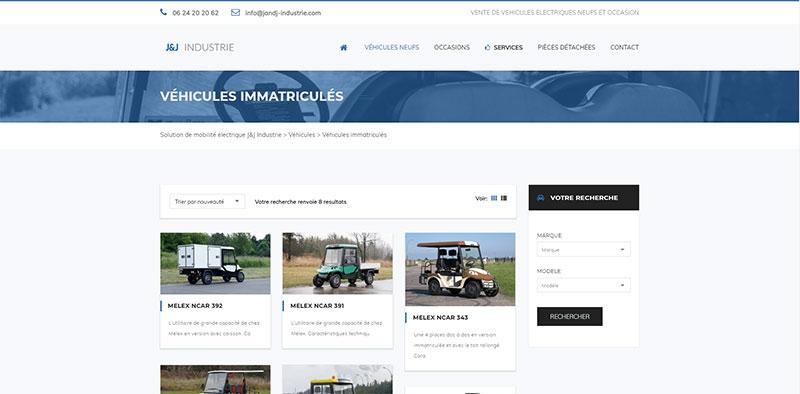 Site vitrine Wordpress de la société JandJ Industrie -
