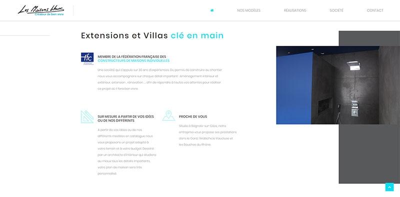 Site vitrine Les Maisons Bleues -