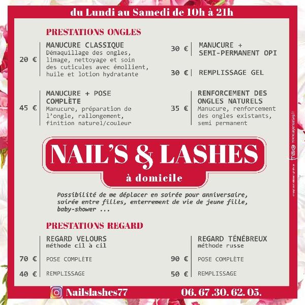 Création flyer Nails et Lashes -