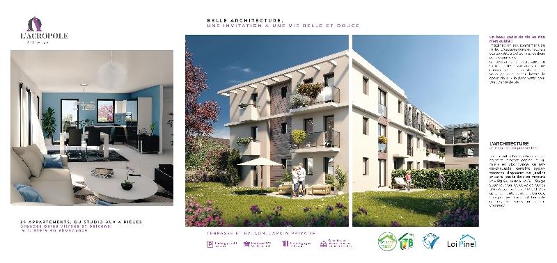 Création de la plaquette programme immobilier L-Acropole -