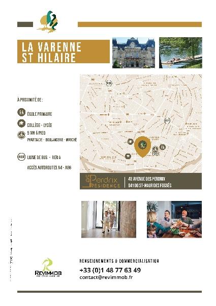 Création de la plaquette programme immobilier Les Perdrix -