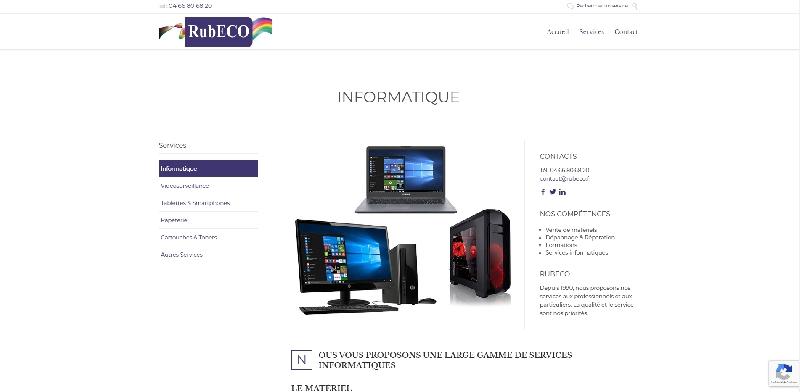 Site vitrine Wordpress RUBECO -