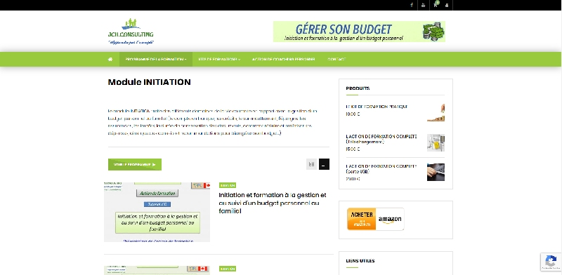 Site e-commerce WOOCOMMERCE JCH CONSULTING -
