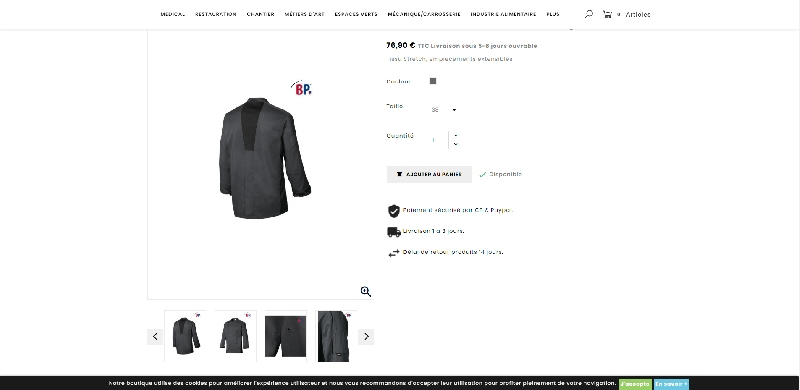 Site e-commerce PRESTASHOP JMAC PRO -