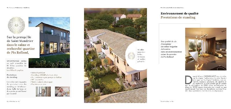 Création de la plaquette programme immobilier Nymphéa -