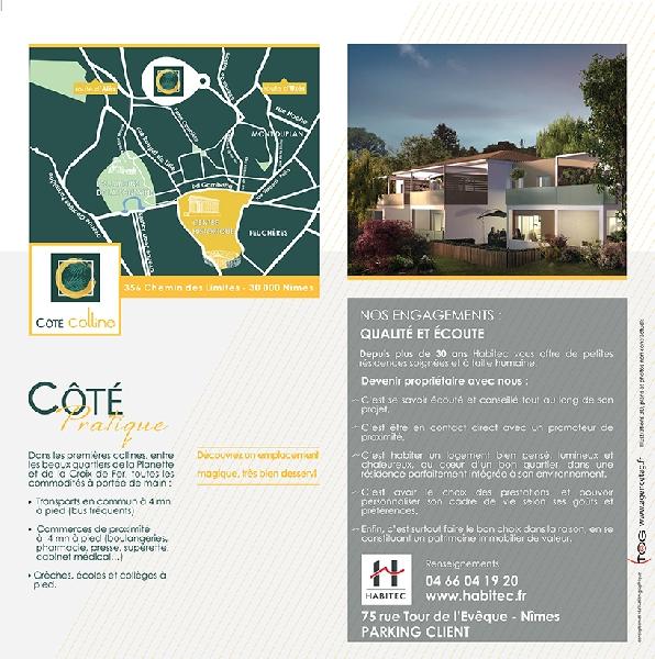Création de la plaquette programme immobilier COTE COLLINE -