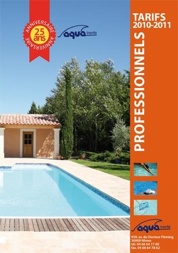 Catalogue de Tarifs Pro Aqua Trente - création et mise en page