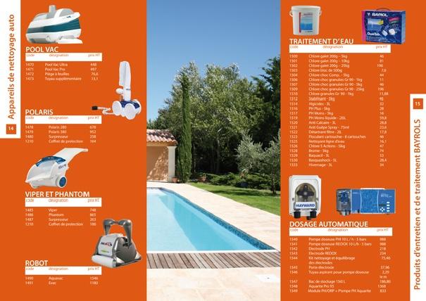 Catalogue de Tarifs Pro Aqua Trente -