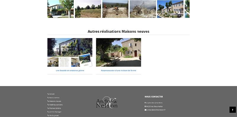 site internet Andrew Nelson -