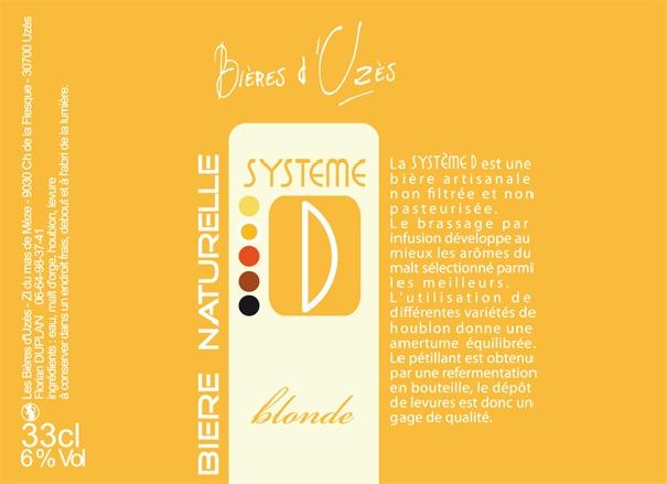 Identité visuelle Bières d'Uzès - Bière Système D