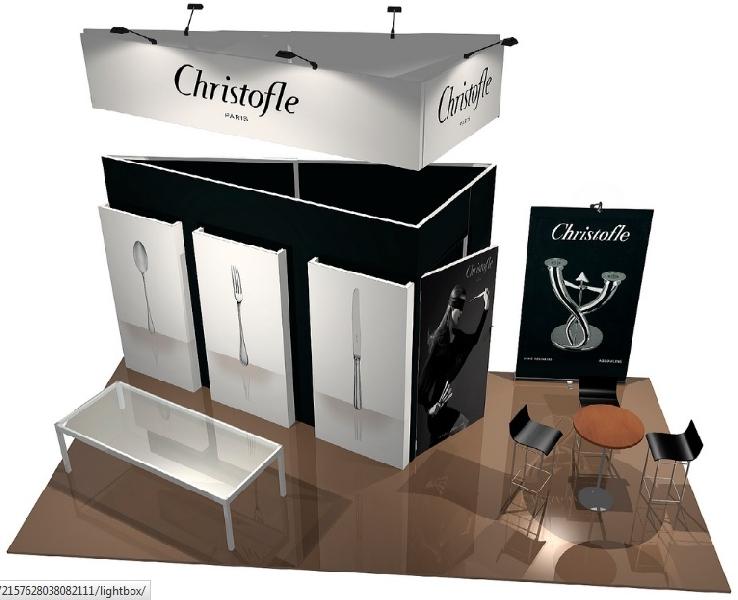 Conception et réalisation d'espace d'exposition - stand -