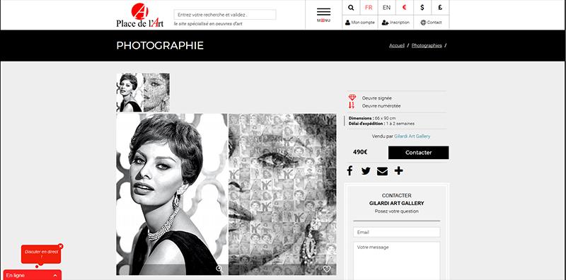 Site vitrinevitrine catalogue et market place Place de l'Art -